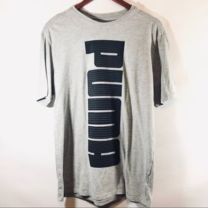 Puma T shirt gray and black sz M